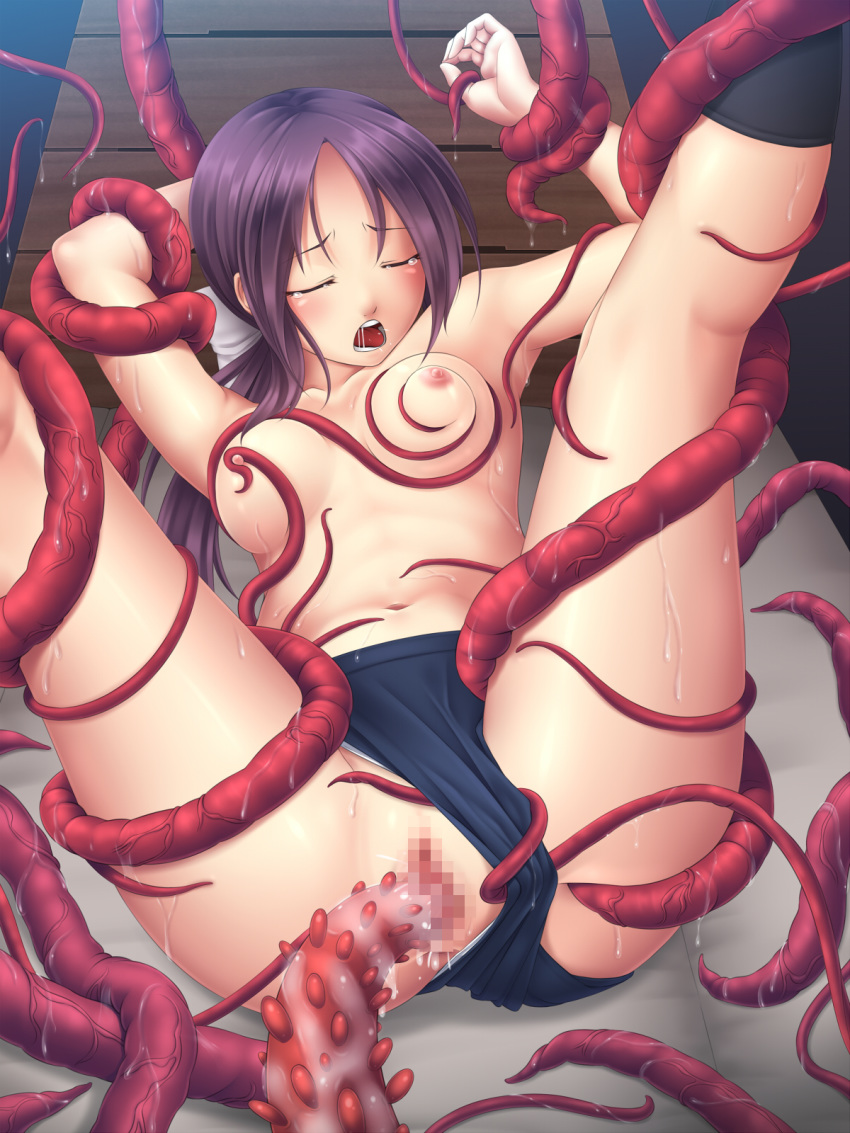 Hentai girl fucked by tentacles in the  sexual video