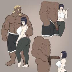 bbc big_penis boruto:_naruto_next_generations cheating dark-skinned_male dark_skin hyuuga_hinata interracial large_breasts naruto raikage zetomeso