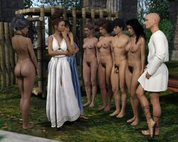 3d ass auction barefoot bondage breasts clothed_female_nude_female clothed_male_nude_female crabbyoldman female femsub lineup male_and_female_subs malesub multiple_females multiple_girls multiple_subs nude public slave slave_market slavegirl