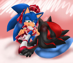 cuntboy gatoh pussy rule_63 shadow_the_hedgehog sonic_(series) sonic_the_hedgehog upskirt vaginal_penetration